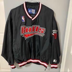 1990's Chicago Bulls Nylon Pullover- Large